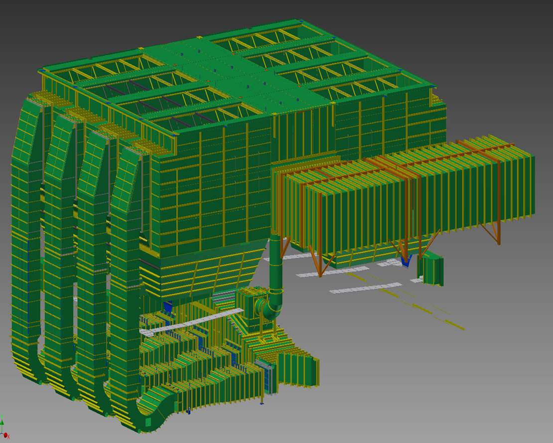 Dry Scrubbers Plate Work 3D Model and Fabrication Drawings Image 1