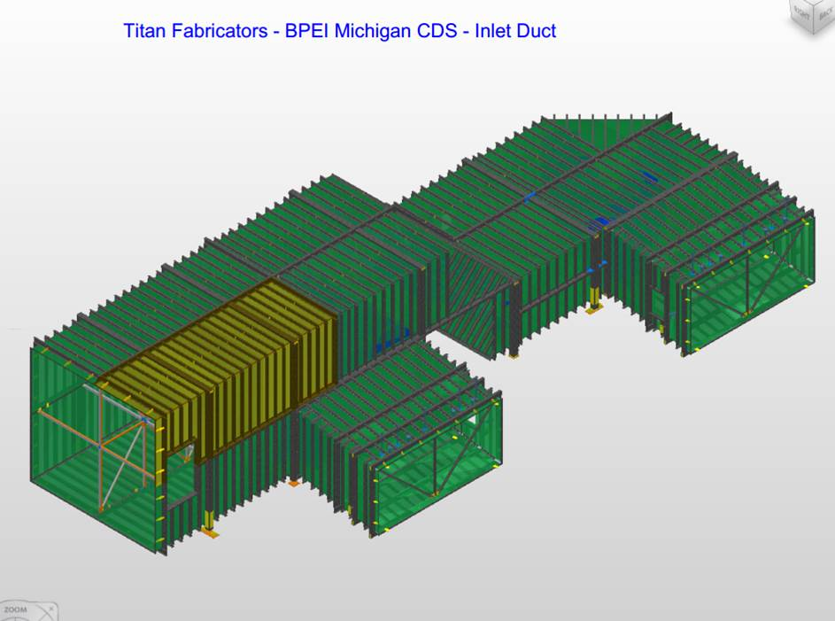 Dry Scrubbers Plate Work 3D Model and Fabrication Drawings Image 2