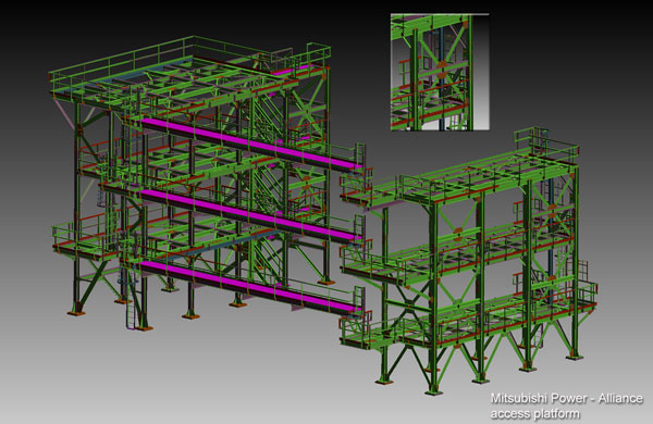 Alliance Refinery Belle Chasse, LA, SCR and platforms 3D model, assembly and detail drawings Image 2