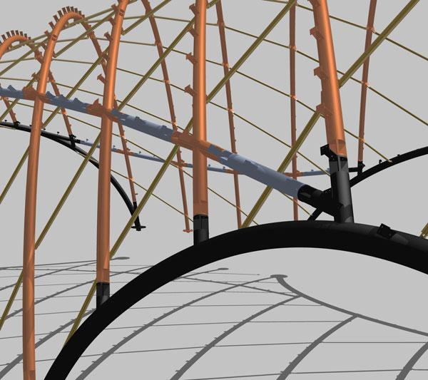 Yonkers Raceway Canopy, Modèle 3D, dessin d'assemblage et de détail Image 2
