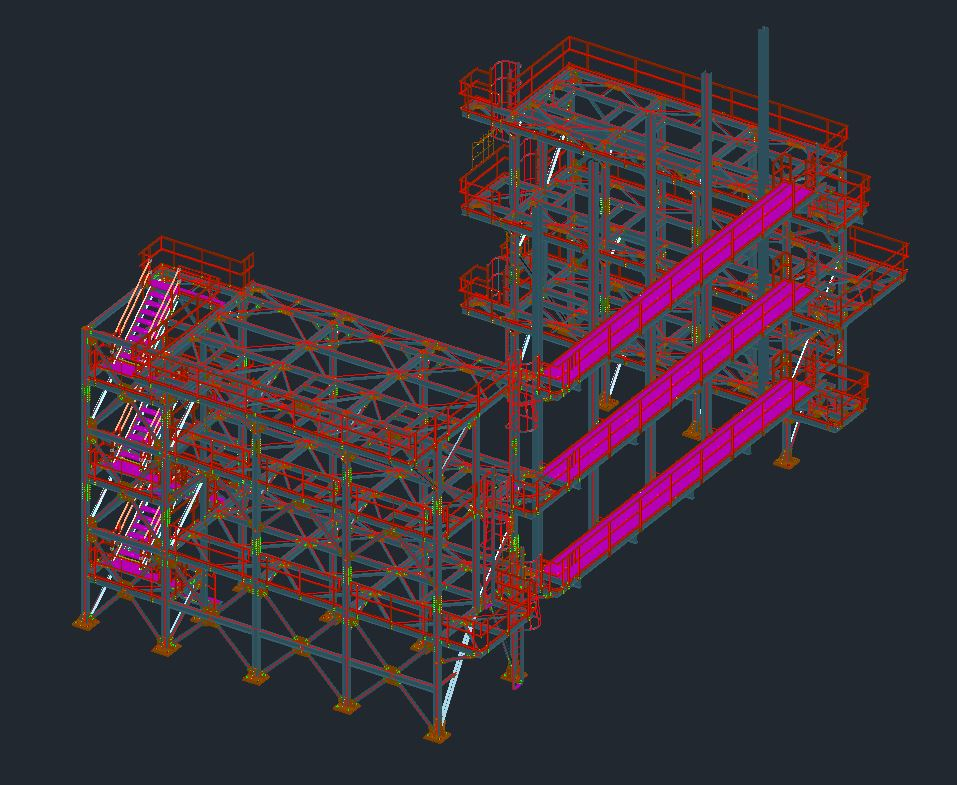 Building Steel, Support Steel & Access, Platforms, Stairs, Ladders, Handrails and Grating Drawings Image 1