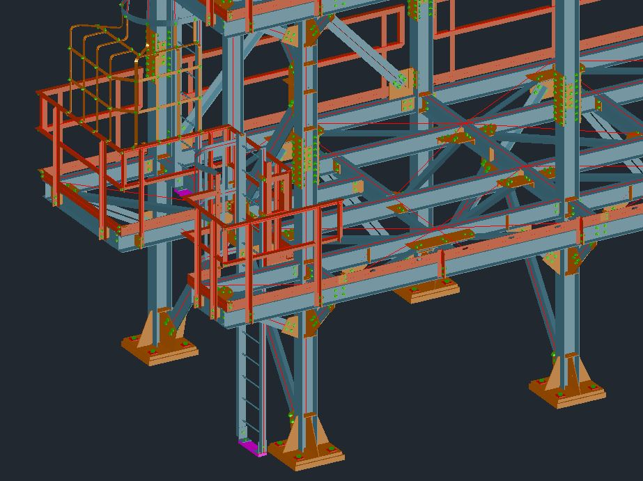 Building Steel, Support Steel & Access, Platforms, Stairs, Ladders, Handrails and Grating Drawings Image 2