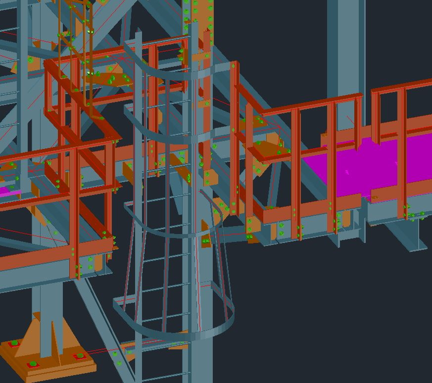 Building Steel, Support Steel & Access, Platforms, Stairs, Ladders, Handrails and Grating Drawings Image 3