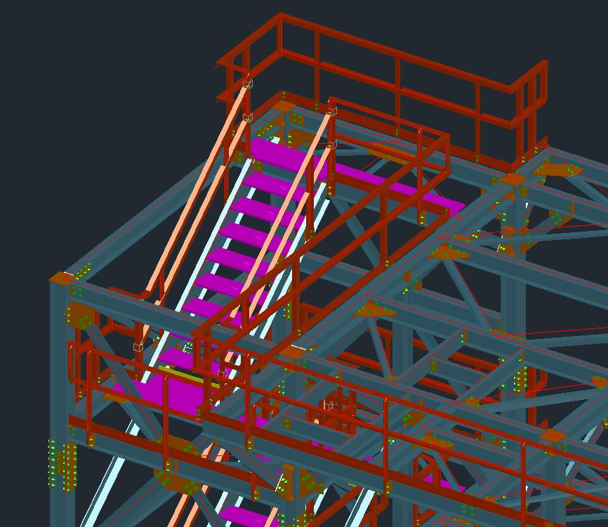 Building Steel, Support Steel & Access, Platforms, Stairs, Ladders, Handrails and Grating Drawings Image 4